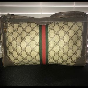 Vintage Monogram Gucci Handbag.
